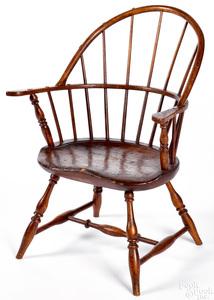Pennsylvania child's sackback Windsor armchair
