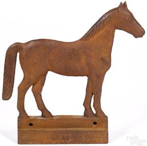 Dempster cast iron horse windmill weight