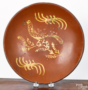 Montgomery County, Pennsylvania redware charger
