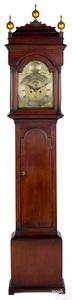 New Jersey Queen Anne gumwood tall case clock