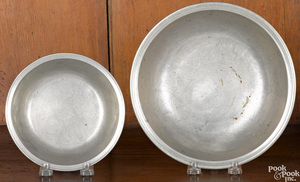 Two pewter basins, early 19th c.