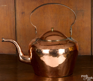 Lancaster or Baltimore copper kettle, 19th c.