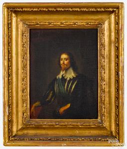 Oil on panel portrait of George Villiers