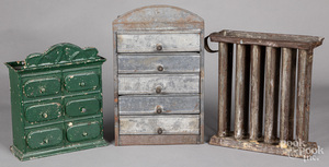 Two tin spice cabinets