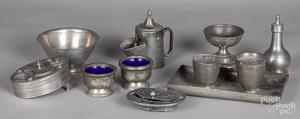 Pewter tablewares, 18th/19th c.