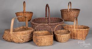 Seven assorted baskets