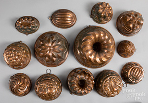 Group of copper food molds.
