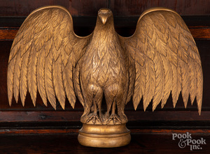 Carved and gilded eagle, mid 20th c.