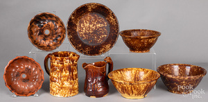 Two redware molds, 19th c.