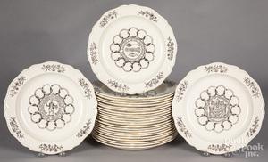 Set of twenty-five Wedgwood state plates