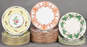 Set of ten Wedgwood floral plates