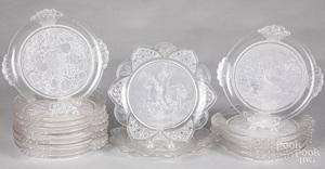 Fifteen Gillinder EAPG plates