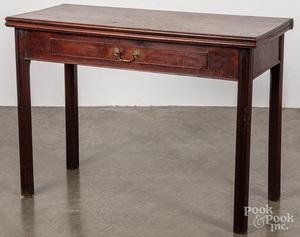 George III mahogany games table, ca. 1770
