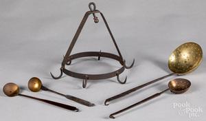 Wrought iron hanging rack