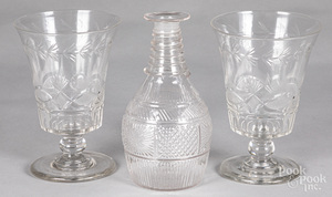 Pair of Pittsburgh cut glass vases