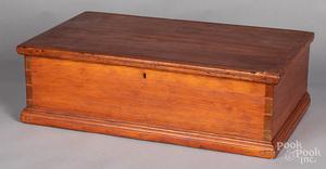 Pine bible box, 19th c.