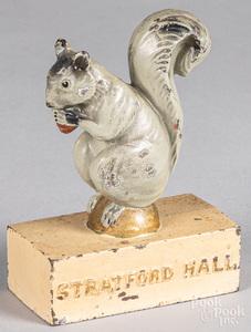 Cast iron Stratford Hall squirrel doorstop