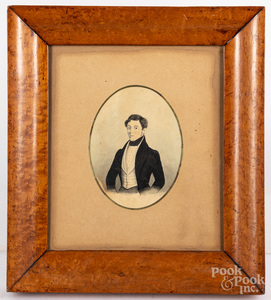 Miniature portrait of a gentleman, 19th c.