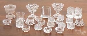 Colorless glass cordials, salts, etc.