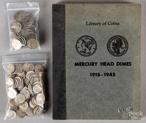 Thirty-one Mercury dimes, etc.
