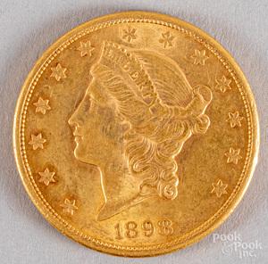 1898-S twenty dollar Liberty Head gold coin