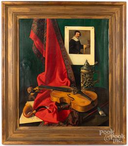 Frederick Thompson oil on canvas still life