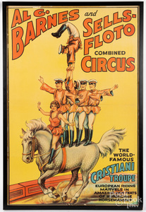 Three Al G. Barnes circus posters