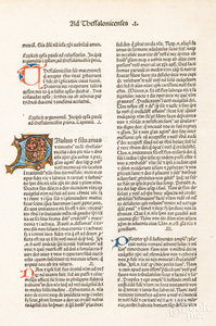 Italian illuminated manuscript page from a Bible