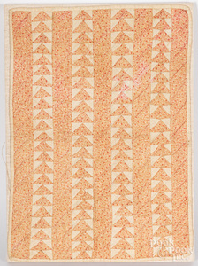 Flying geese doll quilt