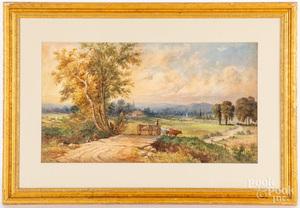Julius Augustus Beck watercolor landscape