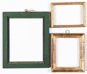 Three small frames