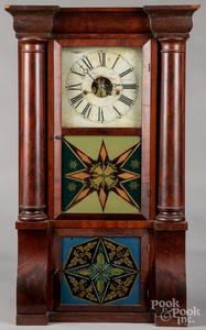 Forestville Empire mahogany mantel clock