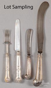 English silver handled fish service