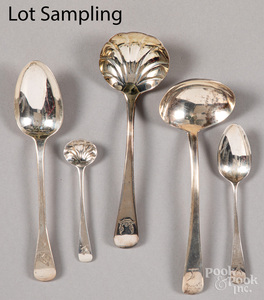 Georgian silver spoons and ladles