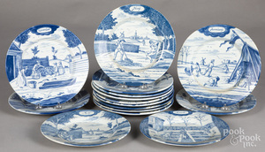 Fifteen Delft months of the year plates