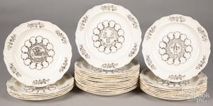 Set of twenty-six Wedgwood Colony plates