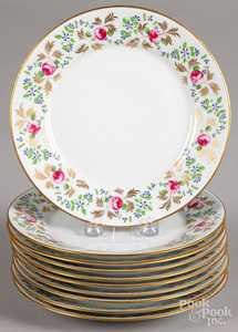 Ten Limoges plates for Tiffany & Co.