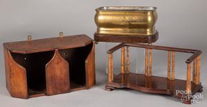 Mahogany wall box, 19th c.
