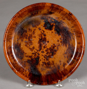 Redware deep dish, 19th c.