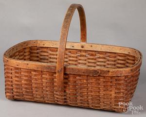 Split oak gathering basket, 19th c.