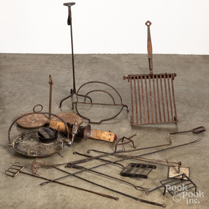 Wrought iron hearth equipment