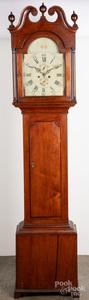 Pennsylvania walnut tall case clock