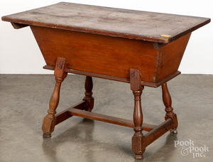 Pennsylvania pine and poplar doughbox table