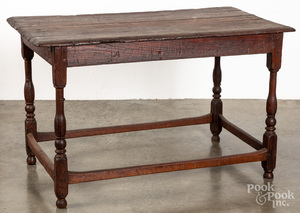 Pine and oak tavern table, 18th c.