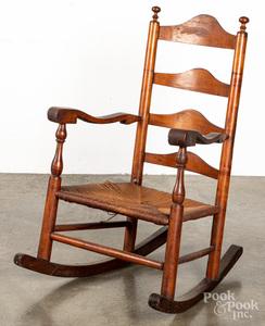 Delaware Valley ladderback rocking chair, 18th c.