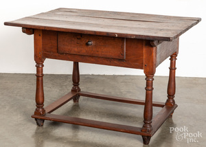 Pennsylvania walnut tavern table, mid 18th c.