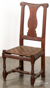 Pennsylvania William and Mary walnut dining chair