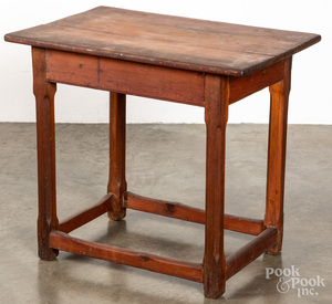 Country pine work table, ca. 1800