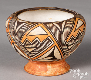 Acoma Pueblo Indian pottery bowl