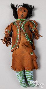 Southwest Indian beaded buckskin doll